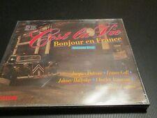 "COF 2 CD NEUF ""C'EST LA VIE - BONJOUR EN FRANCE, VOL. 1"" France GALL J. HALLYDAY"