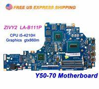 Lenovo Y50-70 ZIVY2 LA-B111P w Intel i5-4210H 2.9GHz CPU GTX860m Motherboard