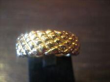 Freundschaftsring Trauringe Zapfen Muster 585er Gold Gelbgold sehr schwer