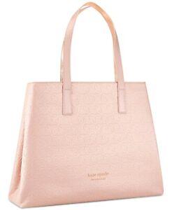 Kate Spade large Pink Blush Faux Leather Tote Bag Handbag purse Travel Shopper