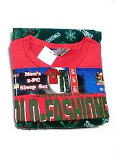 Griswald christmas Mens medium vacation set new fleece pants shirt