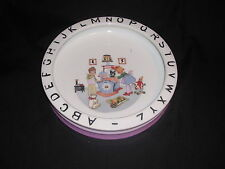 "Antique ABC Alphabet Dish Photo time Toys Dolls Animals Made in Germany 7 3/4""d"
