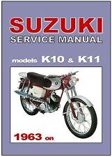SUZUKI Workshop Manual K10 & K11 1963 1964 1965 1966 1968 1969 Service & Repair