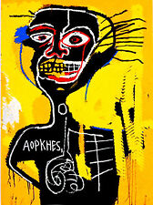Oil Painting reproduction jean michel basquiat Yellow Black head Made to order