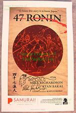 47 Ronin Portland Art Museum Samurai! Armor - Stan Sakai SIGNED LIMITED Print ++