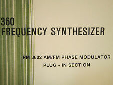AilTech 360 Frequency Synthesizer PM 3602 Operation and Maintenance Manual