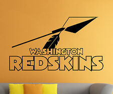 NFL Washington Redskins Wall Decal Vinyl Sticker Football Logo Emblem Home Decor