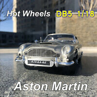 1:18 Hot Wheels ELITE Aston Martin DB5 Goldfinger 007 JAMES BOND Diecast Model