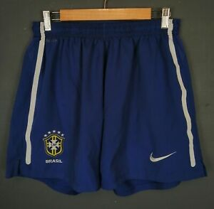 NIKE MEN'S BRAZIL NATIONAL BRASIL 2010/2011 SHORTS FOOTBALL SOCCER SIZE L LARGE