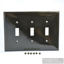 Leviton Black 3G MIDWAY UNBREAKABLE Nylon Toggle Switch Wallplate Cover PJ3-E
