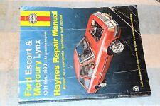 HAYNES 36016 FORD ESCORT MERCURY LYNX 1981-1990 REPAIR MANUAL