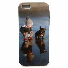 Cute child with dog design rubber back case for Apple Iphone 5 5s 5G , designer