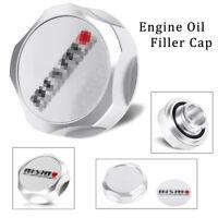 Oil Filler Cap Nismo Billet Engine Fuel Tank Cover for Nissan Motorsports Silver
