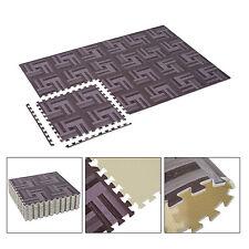 72 Sq Ft Interlocking Floor Mat EVA Foam Puzzle Tiles Wood Grain Gym Exercise