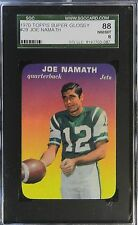 1970 TOPPS GLOSSY FOOTBALL #29 JOE NAMATH  NM/MT 8  SGC 88