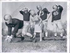 1956 Actress Cleo Moore at Univ Illinois Football Practice Press Photo