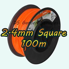 100m of Genuine STIHL 2.4mm SQUARE Brushcutter Strimmer Trimmer Cord Line Wire