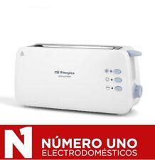 Tostadora de 2 Ranuras Largas Orbegozo TO 4012, 870 W, Blanco