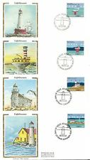 Canada Scott # 1063-1066 Lighthouses FDC. Colorano Silk Cachet.