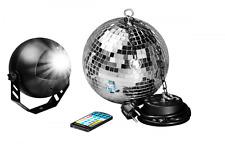 LED Spiegelkugelset 20cm mit Fernbedienung / Party Keller Disco Disko Kugel