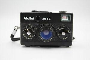 Rollei 35 TE FILM CAMERA All Black w/ Tessar 40mm F/3.5 Lens & Original Case