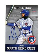 Michael Cruz signed autographed 2018 South Bend Cubs team set card Aguadilla PR