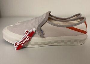 Vans Vault x Taka Hayashi Style TH 47 Slip On Cream Off White Grey Mens Sz 10