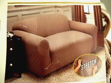"""Stretch Sensations Newport Loveseat Slipcover--wheat, up to 70"""" long--$50 list"""
