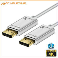 Cabletime High Speed DP to DP Gold Plated Cable 4K DisplayPort to DisplayPort