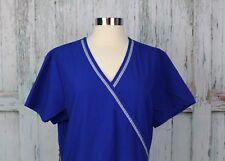 SB Scrubs Electric Blue Solid Scrub Top Womens Size Medium