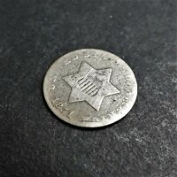 1851 Three Cent Silver 3c VF Quality .750 Silver  RG652