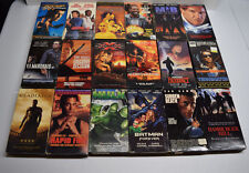 Lot of 18 VHS Tapes Action Video Movies XXX Terminator 007 Hulk Gladiator