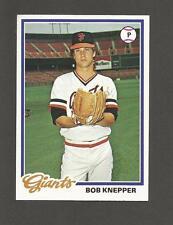 1978 Topps Blank Back Rookie Error Bob Knepper #589 Error & Corrected Giants