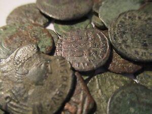 Ancient Roman Coins - Bronze 47BC - 370 AD Authentic Roman Coins - Good Detail!!