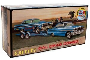 1:25 AMT CAL DRAG COMBO Ford Galaxie Falcon FC Trailer Plastic Model Kit *MISB*