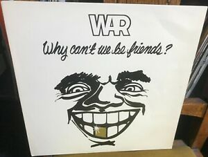 WAR why can't we be friends? 1976 UK ISLAND VINYL LP RECORD w/POSTER INSERT