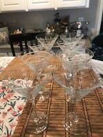 Mikasa Crystal Cheers Martini Glasses Set Of 8