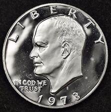 1973-s Eisenhower Dollar.  40% Silver.  Choice Proof.  106923