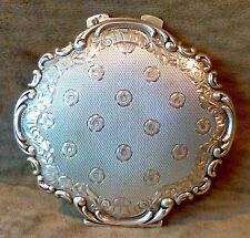 VINTAGE EUROPEAN 835 SILVER LADY'S COMPACT, PROBABLY VICTORIAN, BEVELED MIRROR