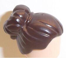 Lego Short Female Hair with Bun x 1 Dark Brown for Minifigure