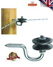 Corner Electric Fen Electric Fence Insulator G73 With Roller FOR WIRE / ROPE UK