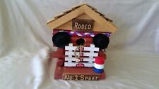 country cowboy western Rodeo barrels chute log Bird house decorative,usable New