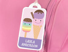 Personalised Ice Cream Name Tag for School Book Bag / Luggage - Bright Star Kids