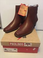 Pikolinos women's brown leather ankle boots Size 42