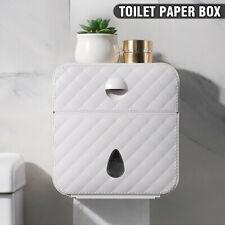 Toilet Roll Holder Waterproof Paper Towel Box Wall Mount Tissue Storage Bathroom