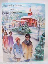 1970s Black Americana Xmas Card 'Merry Christmas' Freedom Greetings Phila