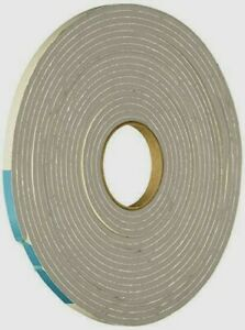 "02238 M-D Gray Foam Cell WEATHER STRIPPING TAPE Adhesive Draft Seal 1/8"" x 17'"