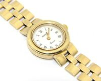 Ladies Womens 9ct 9carat Yellow Gold Round Faced Geneve Quartz Watch UK SELLER