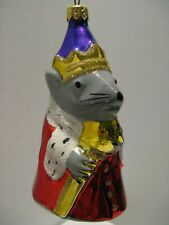 New ListingVintage Kurt Adler Polonaise Komozja Rat King Glass Christmas Ornament