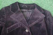 Jacke Damenjacke Blazer Samt schwarz Gr. 42